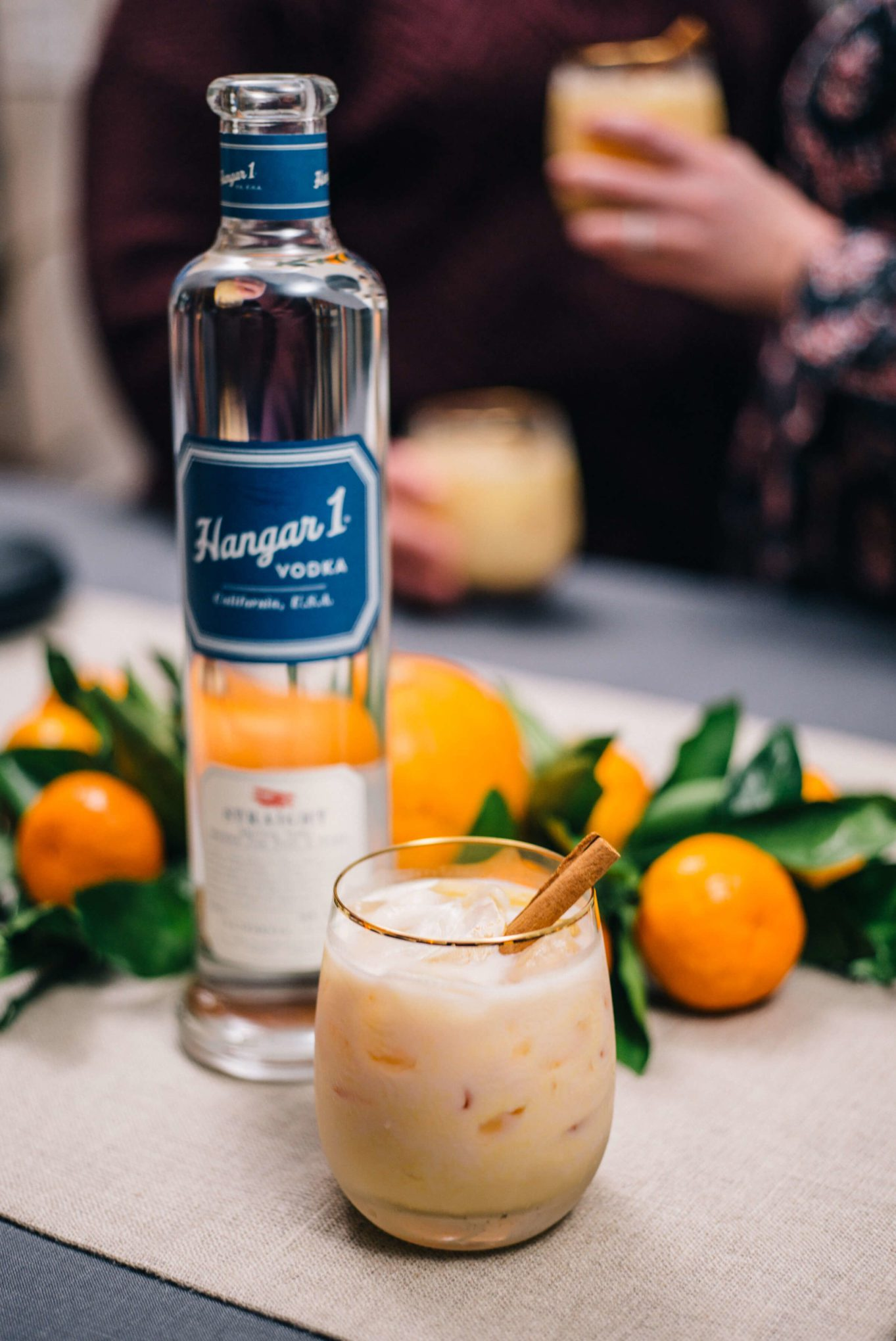 The Taste SF makes Pumpkin Spice Cocktails with Hangar 1 Vodka for Friendsgiving or Thanksgiving and parties, the best pumpkin cocktail we've tried with ginger and cinnamon