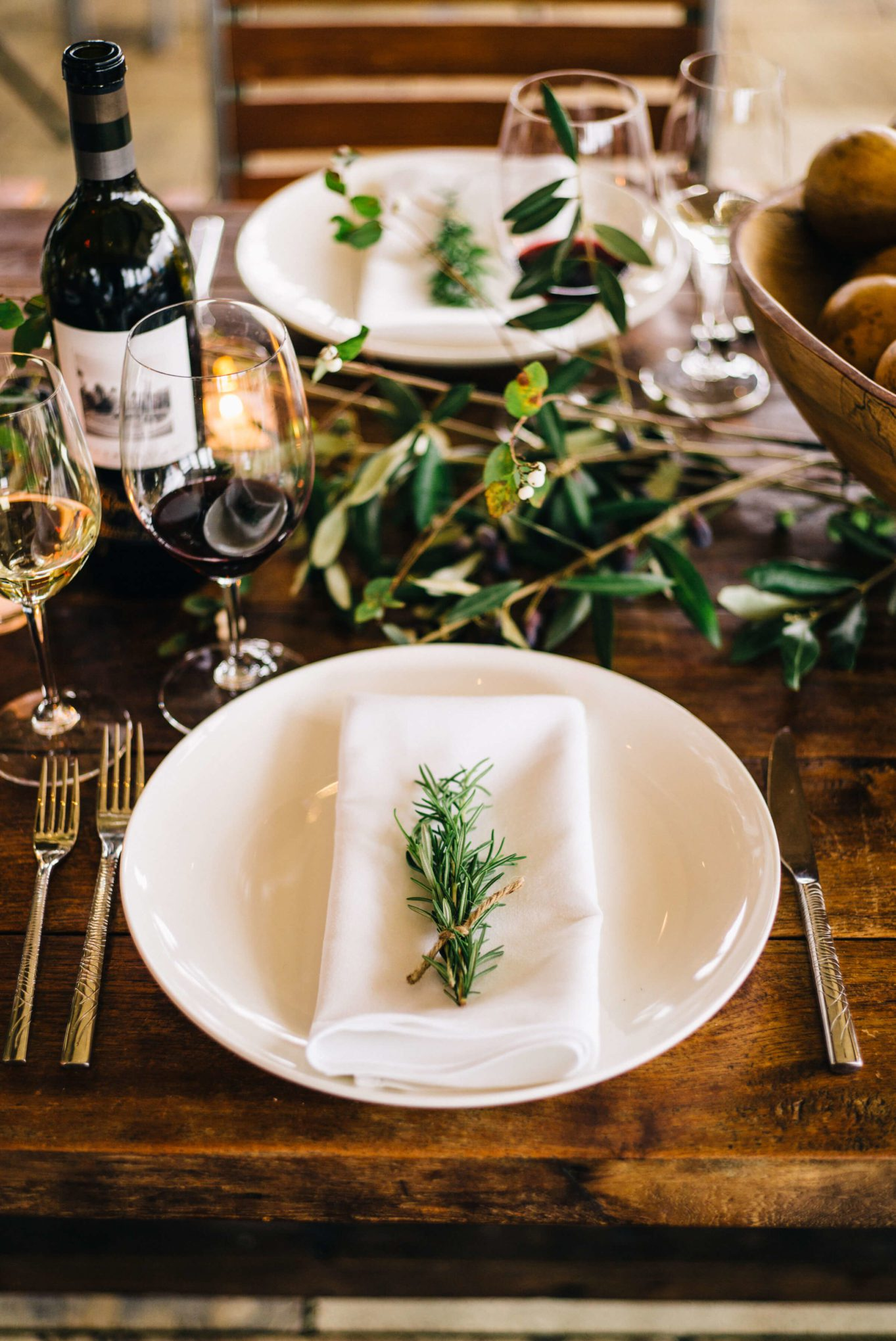 Round Pond Estate Winery in Napa Table for Thanksgiving created by the taste sf