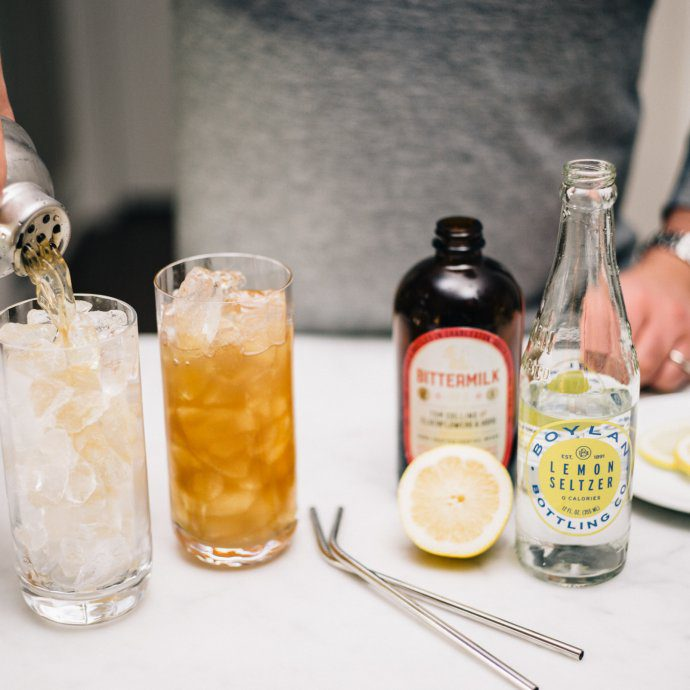 Bittermilk's Tom Collins Elderflower Hops cocktail mix is perfect anytime of year and makes simple cocktails for parties