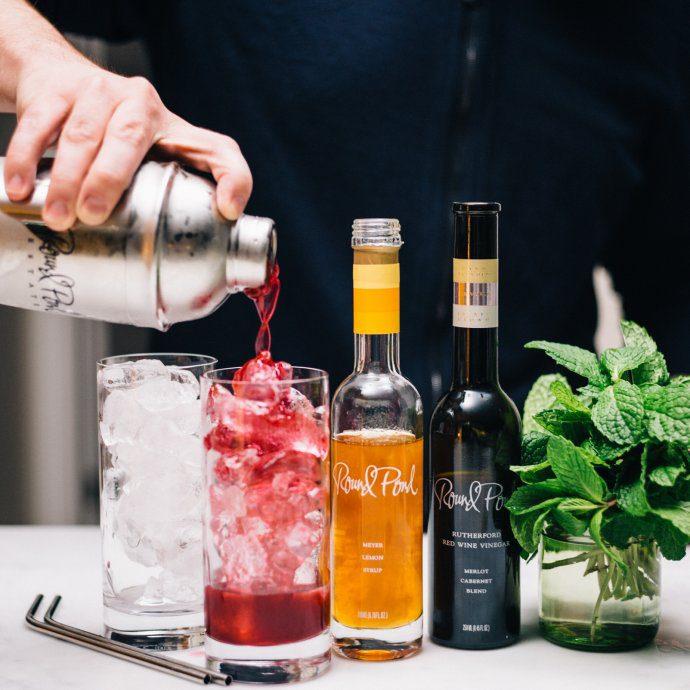 making a Blueberry Shrub Cocktail | Round Pond Estate Napa Rutherford | The Taste SF