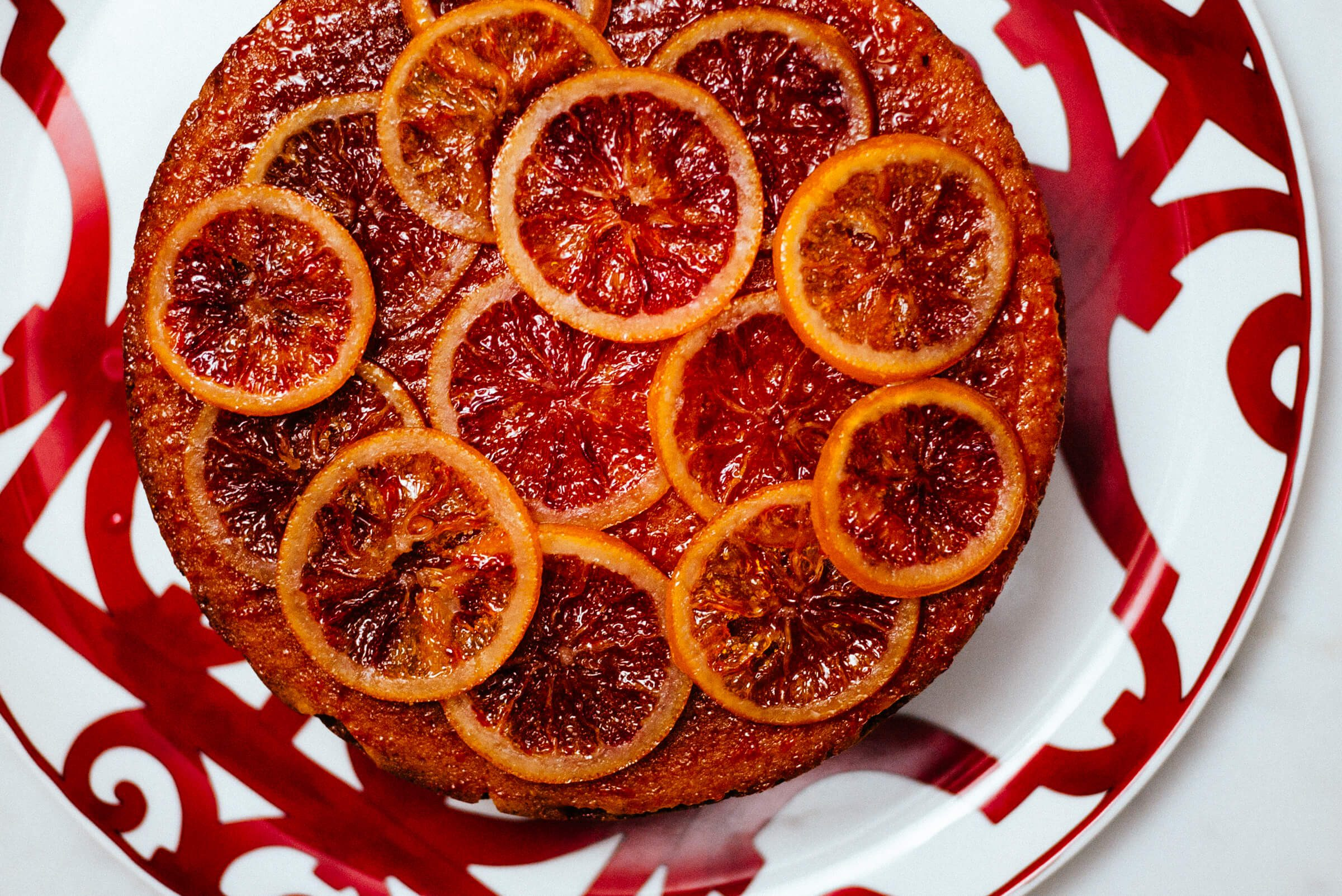 The Taste SF uses Chef'n measure up measuring glasses to make a blood orange campari cake topped with homemade candied oranges