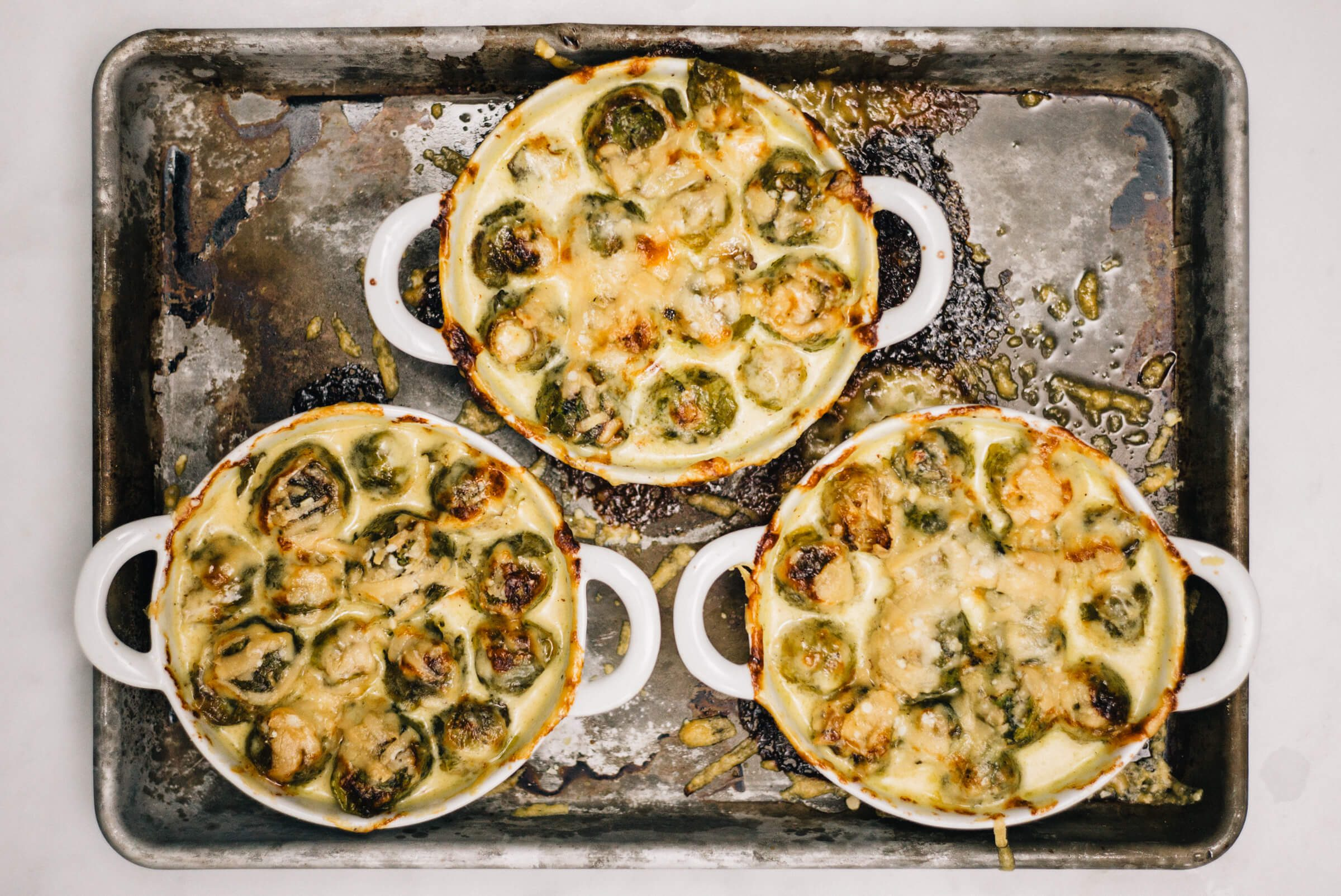 Baked Brussels Sprouts with stilton cheese is a simple delicious side dish with the taste sf