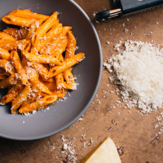 Penne alla Vodka pasta dish is a perfect dinner recipe made by The Taste SF