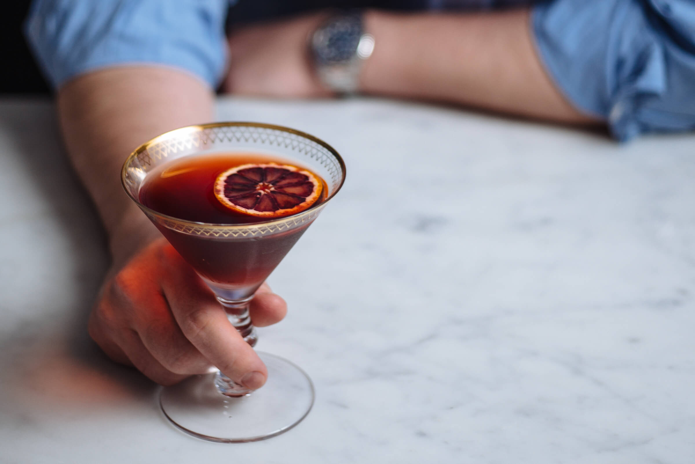 The boulevardier cocktail is made with 1 ounce bourbon or rye whisky 1 ounce Campari 1 ounce sweet vermouth by The Taste SF