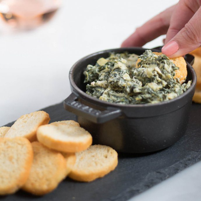 MAIO makes this healthy Spinach Artichoke dip recipe with Bolthouse MAIO garlic, The Taste SF