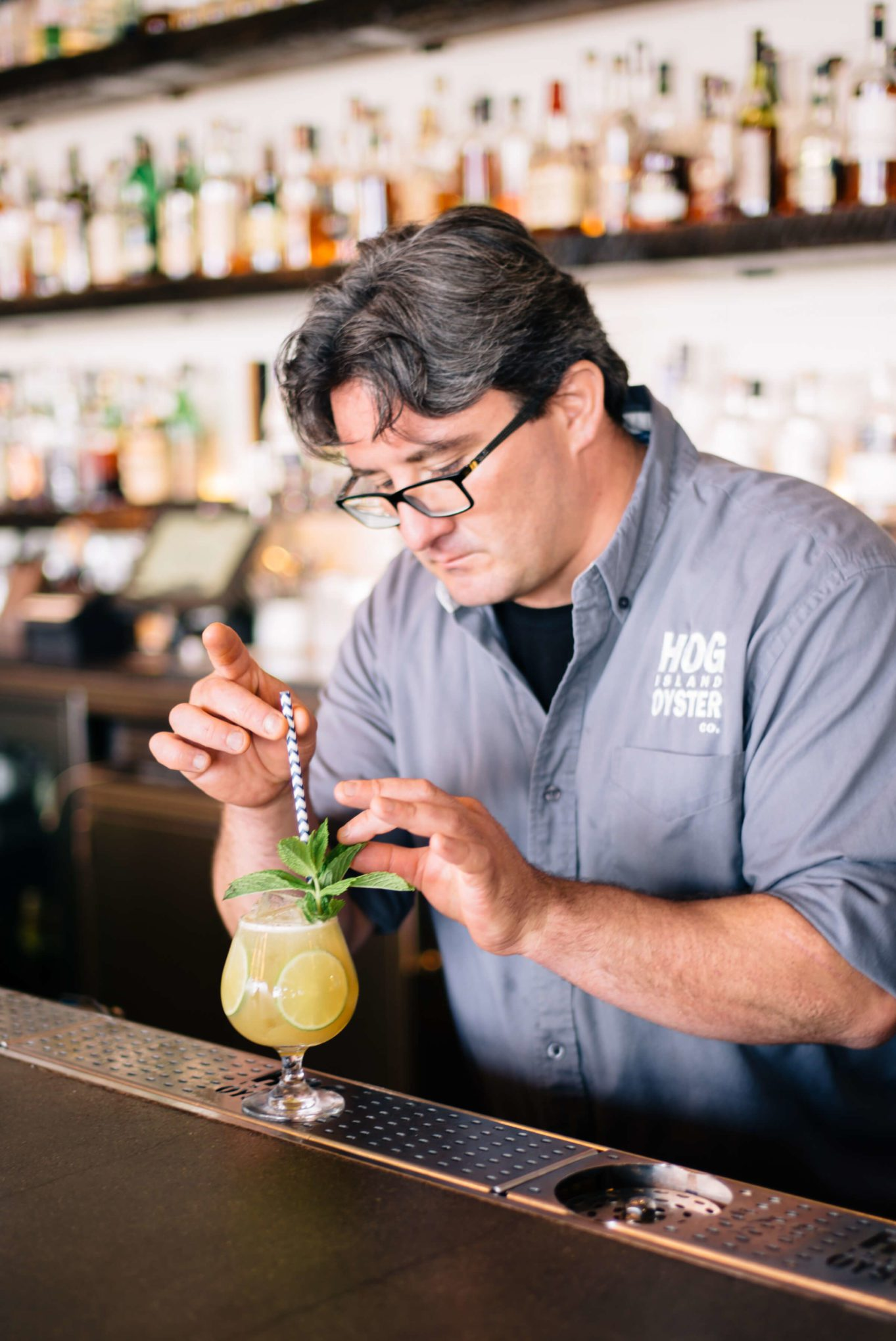 Finishing this Summer Cocktails: Hog Island Saul Ranella Sacred Cenote Mezcal Amaro Cocktail Recipe, restaurant recipe, The Taste SF