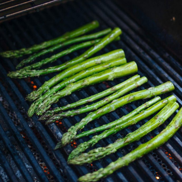 Grilled asparagus is an easy side dish in the summer for bbqs, The Taste SF