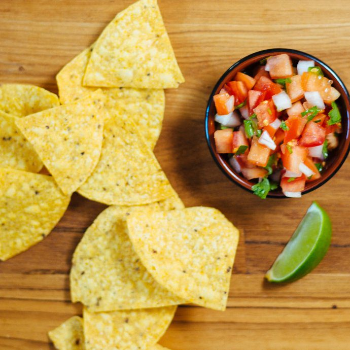 pico de gallo or salsa freshca is a fresh salsa made with tomatoes, lime, cilantro, an easy recipe from The Taste SF