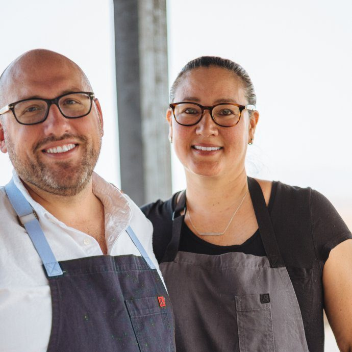Greg Denton and Gabrielle Quiñónez-Denton james beard award winning chefs from Ox Restaurant and Superbite in portland OR, The Taste SF
