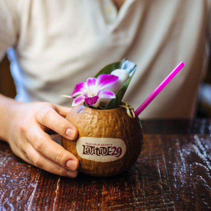 Latitude 29 tiki cocktail in new orleans banana rum cocktail, the taste sf