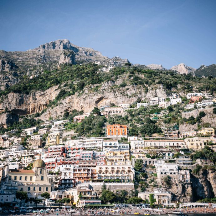 Here's a guide to Positano Italy on the Amalfi Coast and it's neighboring city Praiano from The Taste SF