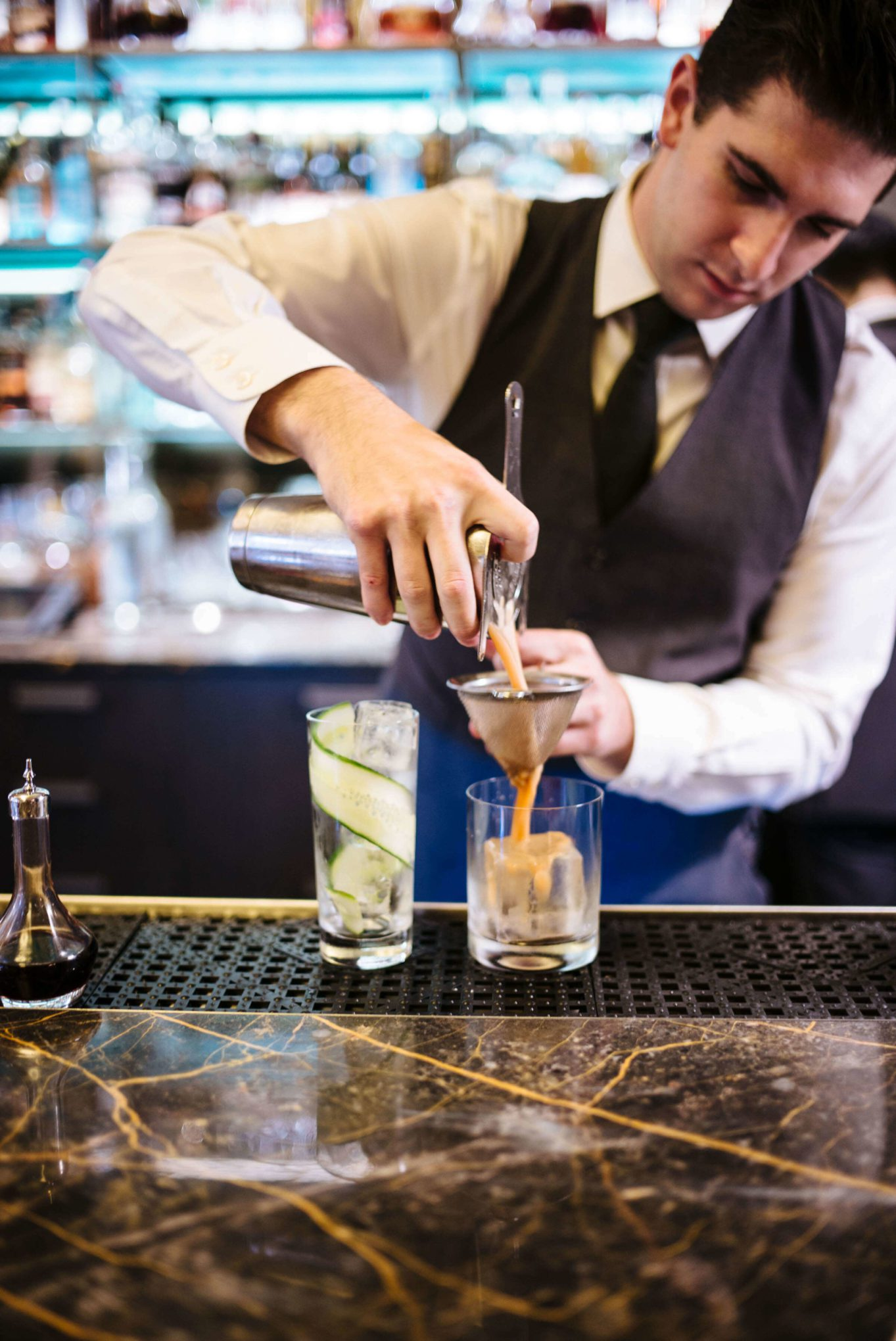 Make this apple whiskey cocktail this fall from Eleven madison Park in NYC via The Taste SF