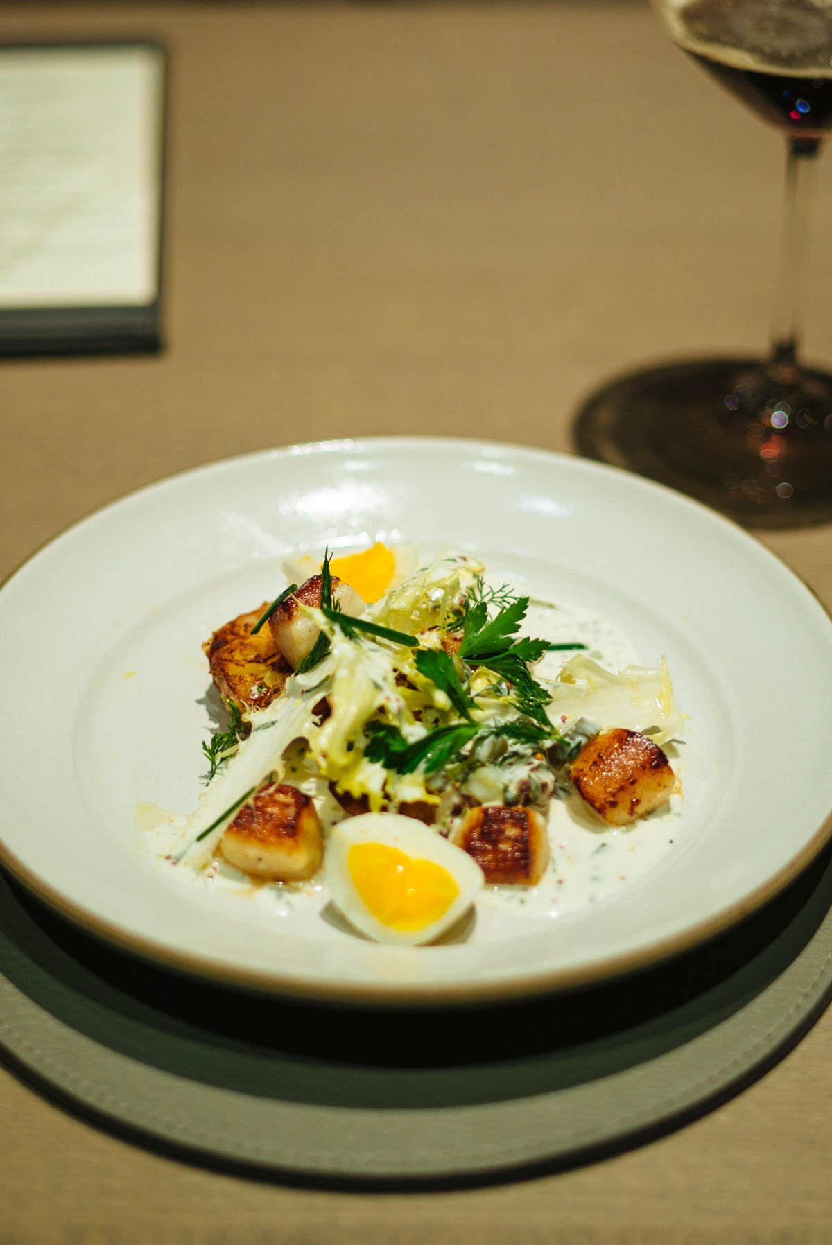 smoked eel and scallops with crispy potatoes from Paul Kahan at Acacia House in Napa Valley The Taste SF