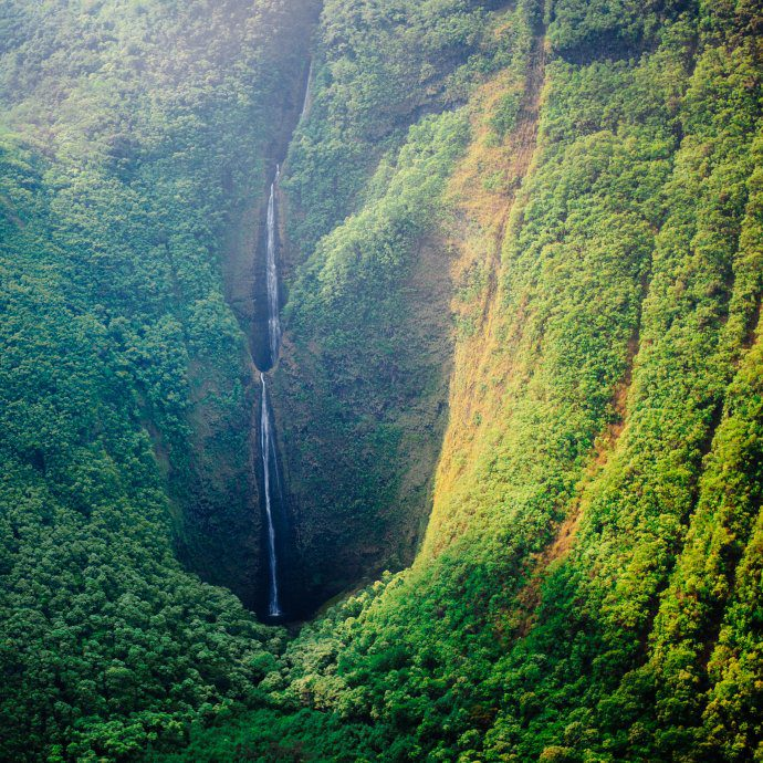 Visit Kona and the Big Island of Hawaii, see the waterfalls from above, The Taste SF