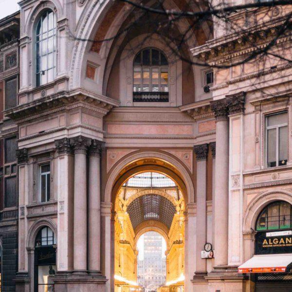 Visit the galleria vittorio emanuele in Milan Italy