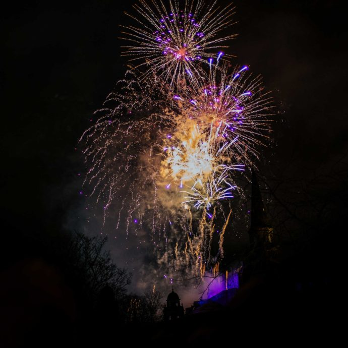 New Year's Eve Fireworks over Edinburgh Castle, The Taste SF