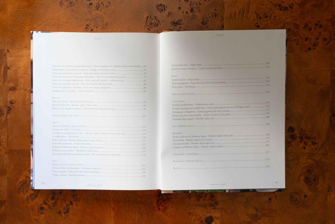Mamma Agata Cookbook from the Amalfi Coast Index