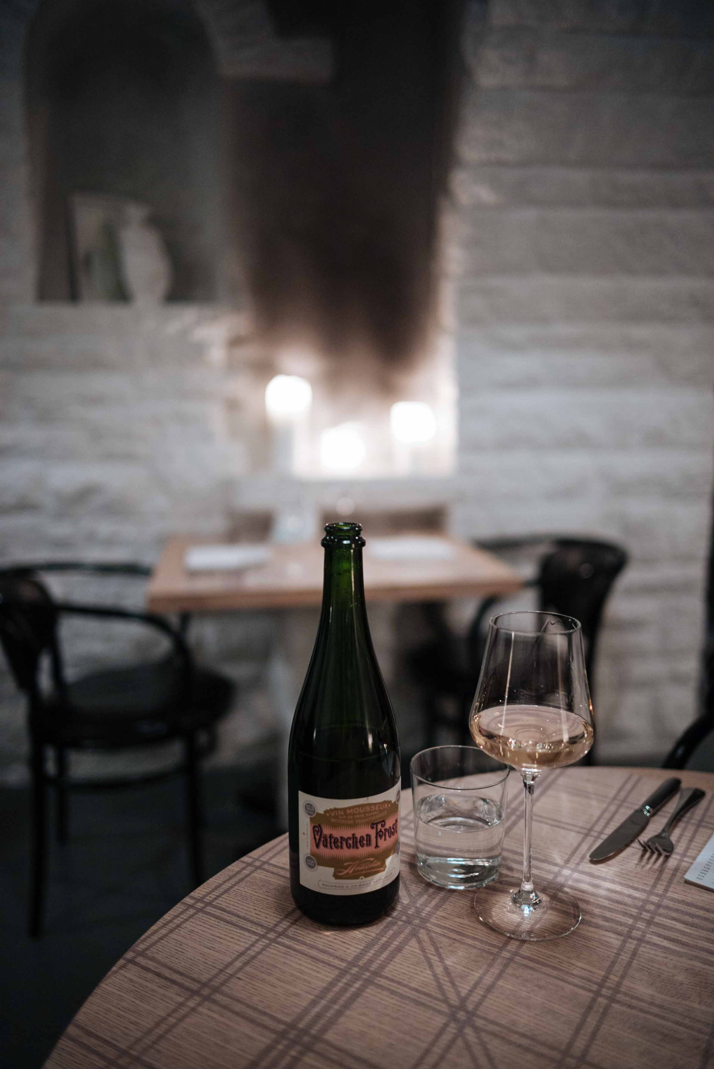 Zurich Restaurant Maison Manesse has a large natural wine list