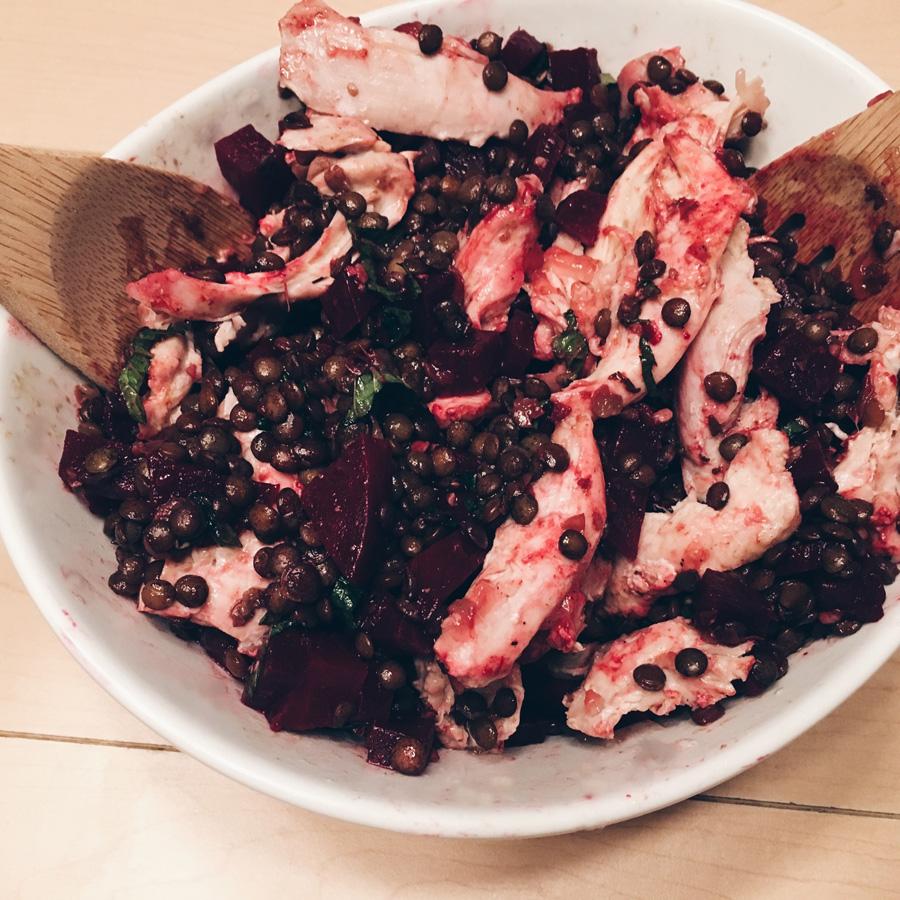 Lentil-Beet Salad