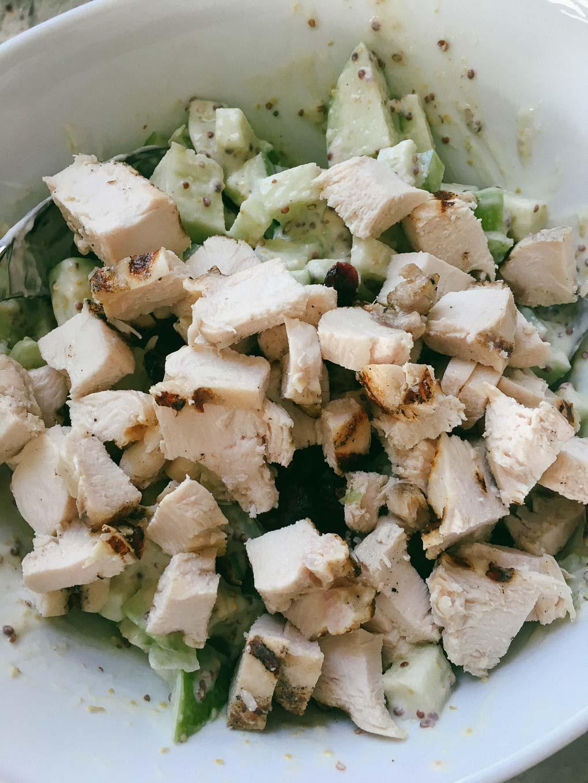 Healthier dijon chicken salad with greek yogurt dressing the healthier dijon chicken salad from the dude diet the tastiest book forumfinder Image collections