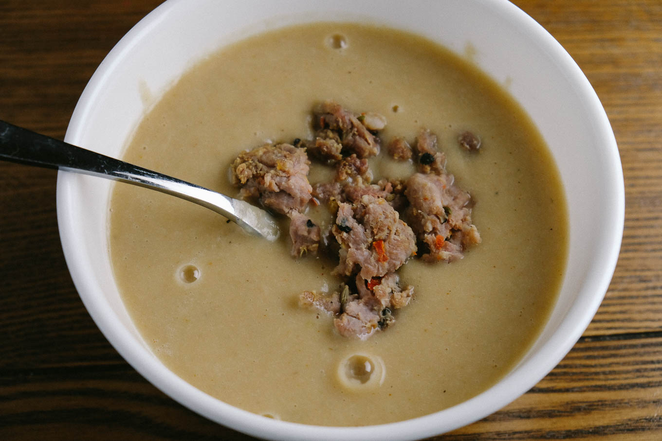 Fennel Soup with Spinach and Spicy Sausage   the Tastiest Book