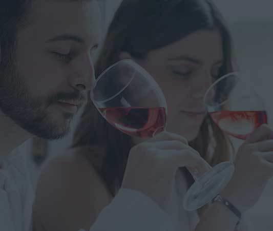 people testing wine