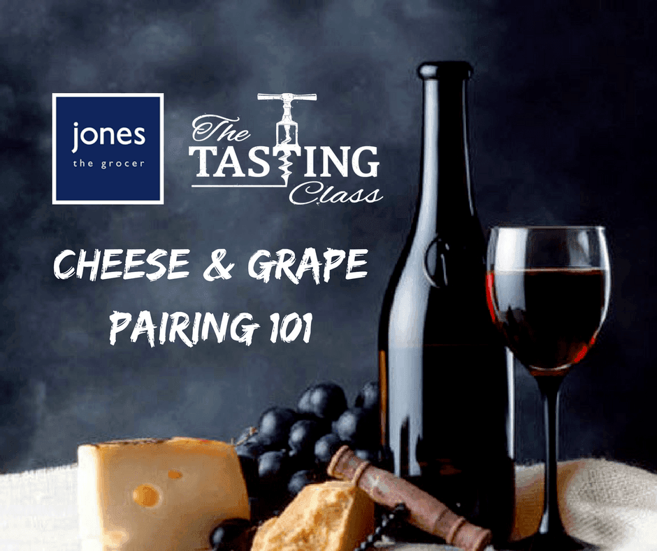 Cheese and Grape Pairing 101 class