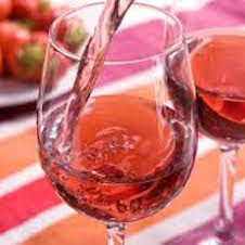Rose Wine Summer Drink and Strawberries