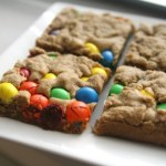 Peanut M&M Blondies