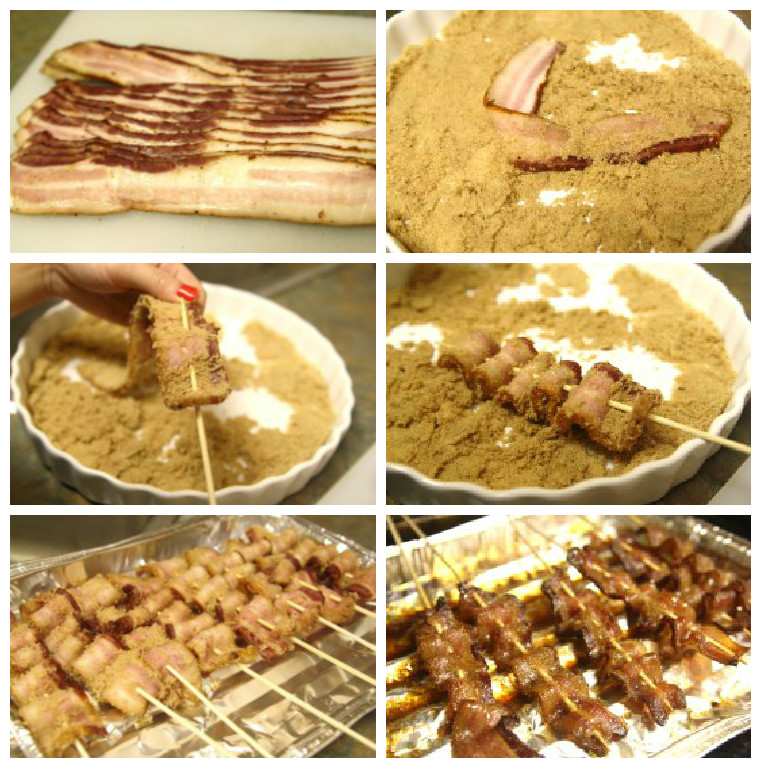 candied bacon grid
