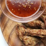 Fried Chicken Wings with Sweet Chili Sauce