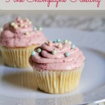 Perfect Vanilla Cupcakes with Pink Champagne Frosting