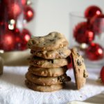 Double Chocolate Dried Cherries and Macadamia Nut Cookies