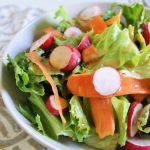 Asian Salad with Carrot Ginger Dressing