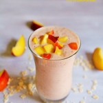 Meatless Monday: Nectarine Overnight Oats Smoothie