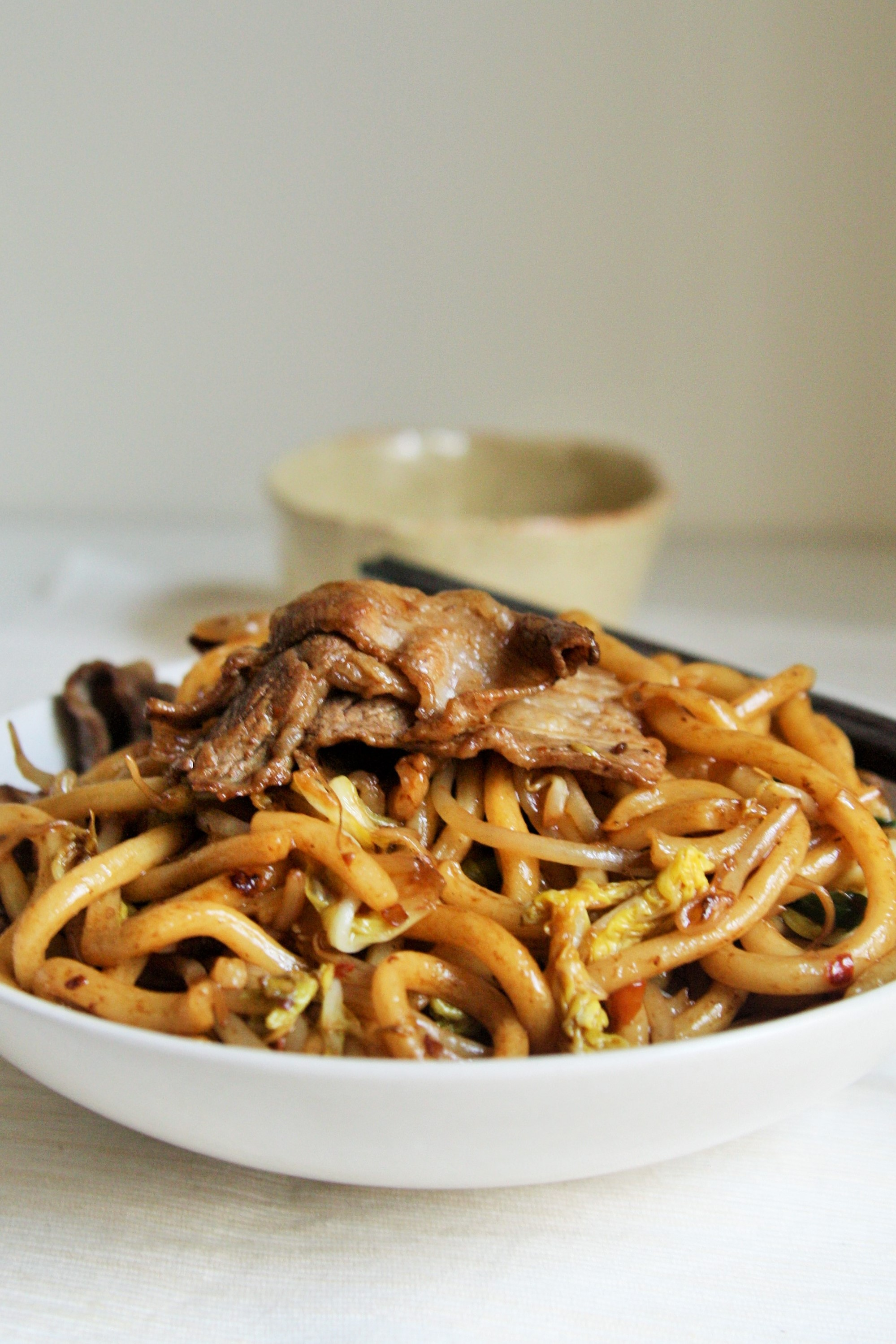 Similar to yakisoba, it\u0027s another type of stir,fry noodle dish made with  thick, chewy wheat noodles. Japanese stir,fry noodles which can be prepared