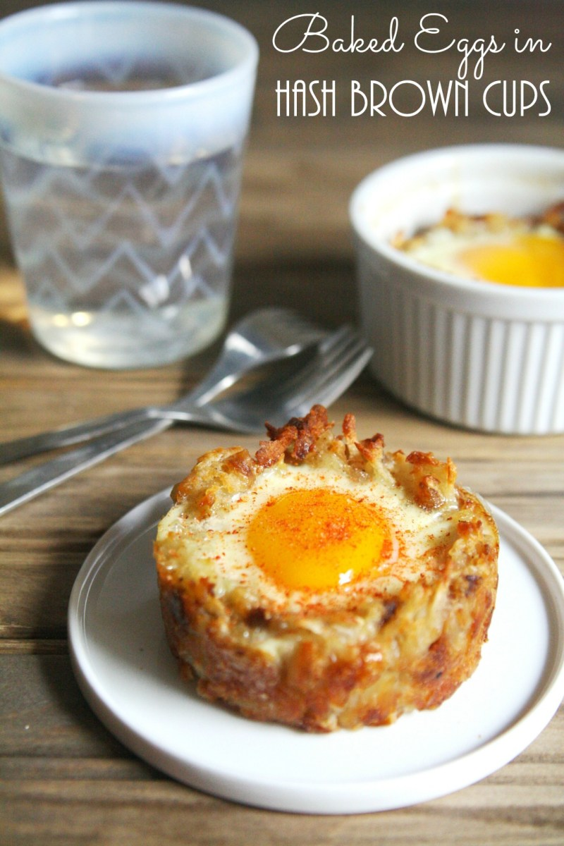 Baked Eggs In Hash Brown Cups Meatless Monday