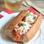 Cheesy Meatball Marinara Subs