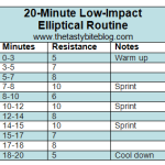 20-Minute Low-Impact Elliptical Routine