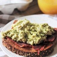 Pesto and Ricotta Eggs with Ham {Green Eggs and Ham}