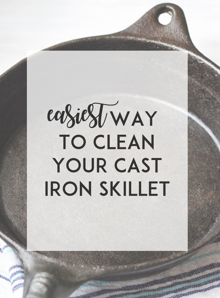 Cleaning your cast iron skillet is easy when you follow these four simple steps.
