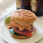 Sriracha Lime Chicken Burgers