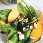 Arugula Salad with Peach, Blueberry, and Gorgonzola