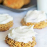 Carrot Cake Cookies with Maple Cream Cheese Frosting {Gluten-Free/Paleo}
