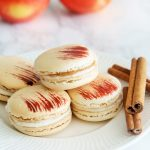Caramel Apple Pie Macarons {+ Painting Patterns on Macarons}