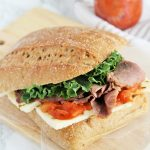 Roast Beef, Basil, and Tomato Chutney Sandwich