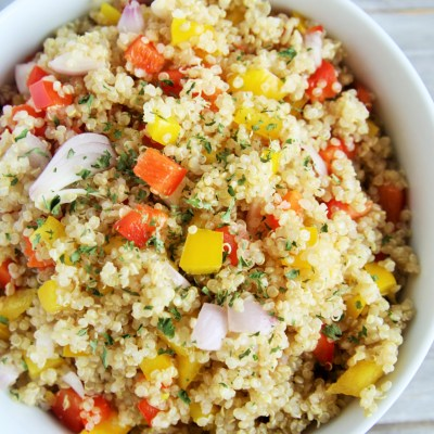 Quinoa and Pepper Pilaf