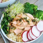 Salmon and Vegetable Whole Grain Bowls