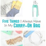 5 Things I Always Have in My Carry-On Bag