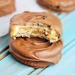 Chocolate Peanut Butter Cracker Stacks